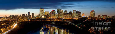 Photograph - Edmonton Skyline Panorama 1 by Terry Elniski