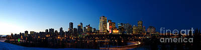 Photograph - Edmonton Skyline Panorama 2 by Terry Elniski