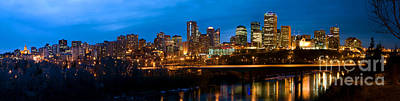 Photograph - Edmonton Skyline Panorama 5 by Terry Elniski