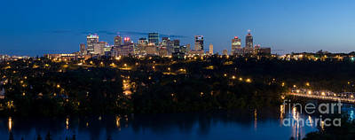 Photograph - Edmonton Skyline Panorama 6 by Terry Elniski