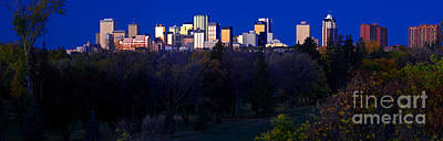 Photograph - Edmonton Skyline Panorama 7 by Terry Elniski