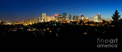 Photograph - Edmonton Skyline Summer Time by Terry Elniski