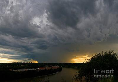 Photograph - Edmonton Storm Clouds  by Terry Elniski