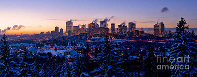 Photograph - Edmonton Wintertime Skyline by Terry Elniski