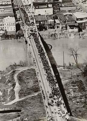 Edmund Pettus Bridge In Selma Alabama Art Print