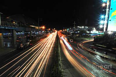 Photograph - Edsa Light Trails 1.0 by Yhun Suarez