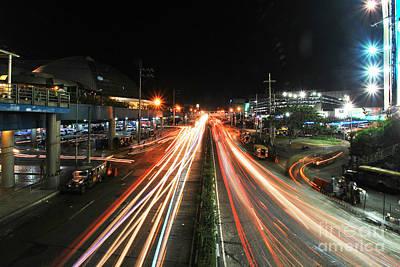 Photograph - Edsa Light Trails 2.0 by Yhun Suarez