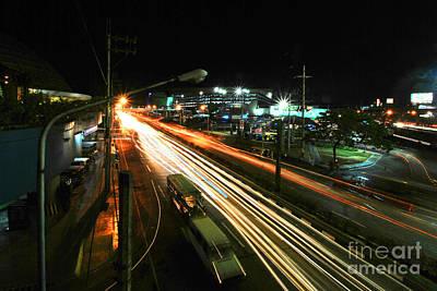 Photograph - Edsa Light Trails 3.0 by Yhun Suarez
