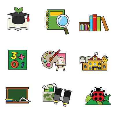 Library Digital Art - Education by Eastnine Inc.