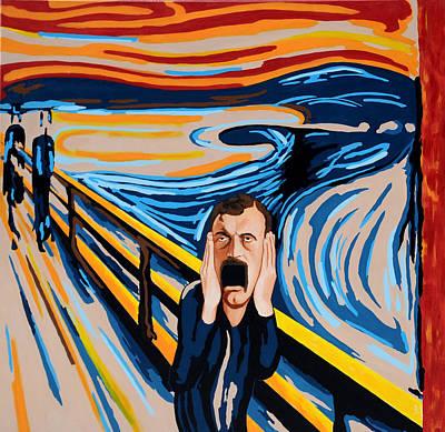 Edvard Munch - The Scream Art Print by Dennis McCann