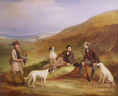 Edward Horner Reynard And His Brother George Art Print by John E Ferneley