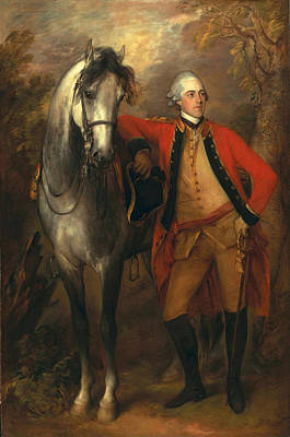 Military Uniform Painting - Edward Viscout Ligonier by Thomas Gainsborough