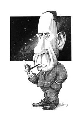Edwin Hubble, Us Astronomer Art Print by Gary Brown