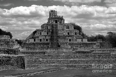 Photograph - Edzna Edificio Campeche Mexico by John  Mitchell