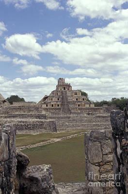 Edzna Mayan Ruins Art Print by John  Mitchell