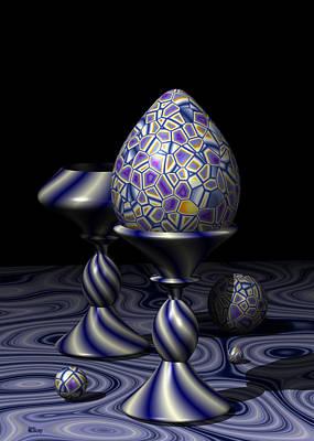 Meditative Digital Art - Egg And Goblet by Hakon Soreide
