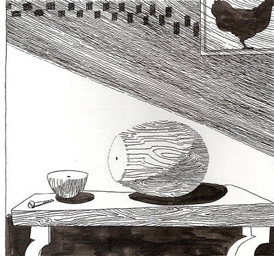 Egg Drawing 019613 Art Print