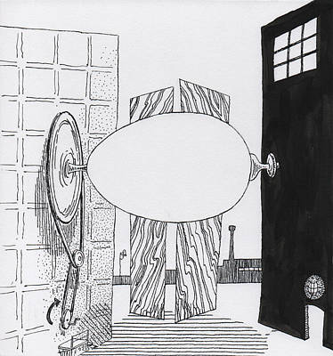 Screen Doors Drawing - Egg Drawing 059907 by Phil Burns