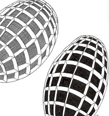 Egg Drawing 060026 Art Print