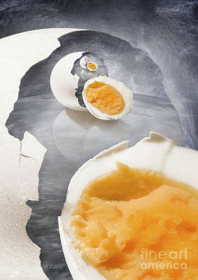 Egg In A Egg In A Art Print by Johnny Hildingsson