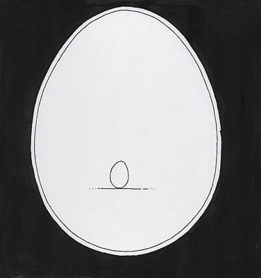 Drawing - Egg In Egg by Phil Burns