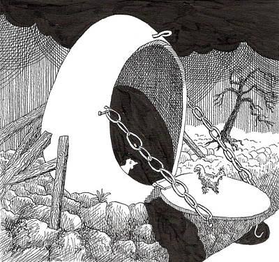 Egg Landing Art Print by Phil Burns