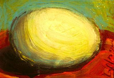 Painting - Egg by Les Leffingwell