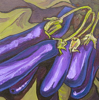 Painting - Eggplant by Sandy Tracey