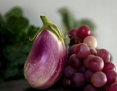 Plants Photograph - Eggplant Still Life by Marilyn Hunt