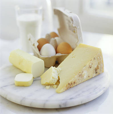 Photograph - Eggs And Cheese by David Munns