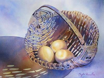 Painting - Eggs In A Basket by Daydre Hamilton