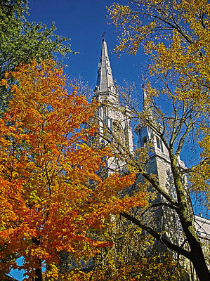 Photograph - Eglise Saint Jean Baptiste - Sherbrooke by Juergen Weiss