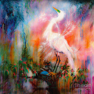 Painting - Egret Dreams  by Ginette Callaway