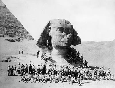 Photograph - Egypt: Great Sphinx, 1882 by Granger