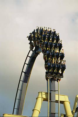 Rollercoaster Photograph - Egypt-montu Rollercoaster At Busch by Richard Nowitz
