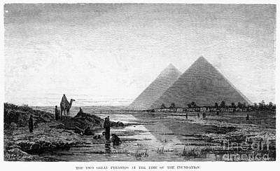 Photograph - Egypt: Nile And Pyramids by Granger