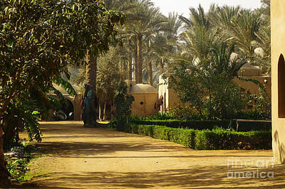Egyptian Courtyard In The Late Afternoon Art Print by Mary Machare