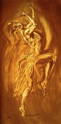 Osiris Mixed Media - Egyptian Dancer 3 by Christo Wolmarans