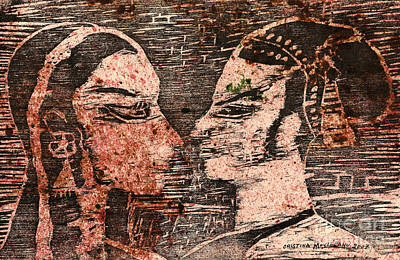 Isis Mixed Media - Egyptian Love  by Cristina Movileanu