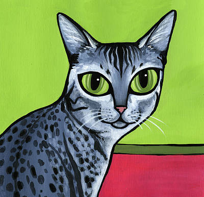 Painting - Egyptian Mau by Leanne Wilkes