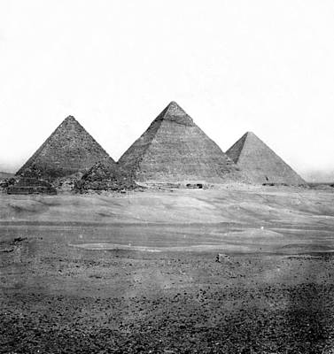 Egyptian Pyramids - C 1901 Art Print by International  Images