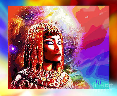 Art Print featuring the digital art Egyptian Queen by Hartmut Jager