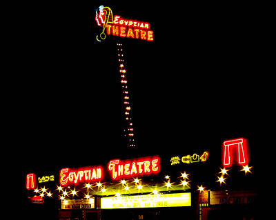 Egyptian Theatre In Coos Bay Oregon Art Print by Gary Rifkin