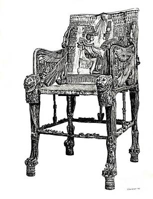 Lee-ann Drawing - Egyptian Throne by Adendorff Design
