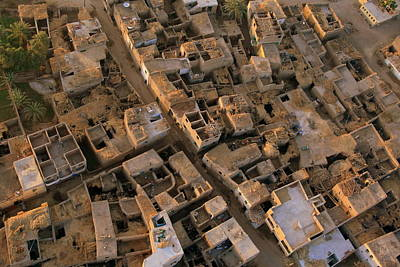 Egyptian Village From The Air Art Print by Joe & Clair Carnegie / Libyan Soup