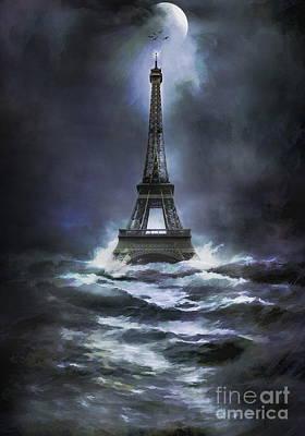 Eiffel   Art Print by Andrzej Szczerski