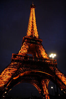 Photograph - Eiffel At Night by Van Corey