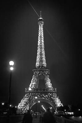 Photograph - Eiffel By Night by Wes and Dotty Weber