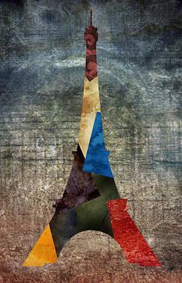 Eiffel Grunge 2 Art Print by Lauren Goia
