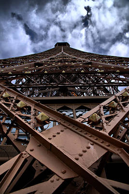 Eiffel In Perspective  Art Print by Edward Myers